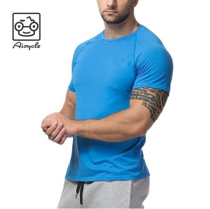 sale luxuriant in design fresh styles Heather Spandex Polyester Slim Dry Fit Plain Compress Sports T-Shirt Mens  Short Raglan Sleeve Gym T Shirt With Wholesale Price