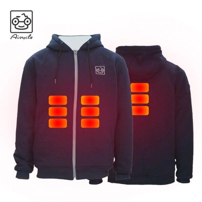 Fleece Heated Hoodie Jacket